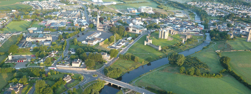 Aerial view of Trim